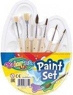 Палитра с четки - Paint set - Комплект от 7 части