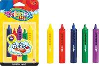 Миещи пастели за баня - Bath crayons - Комплект от 5 цвята