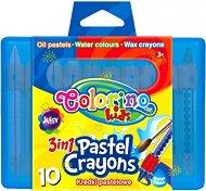 Аквалерни пастели - Комплект от 10 цвята в куфарче