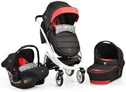 Бебешка количка 3 в 1 - S-line - С 4 колела -
