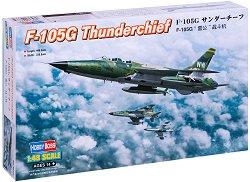 Американски изтребител - F-105G Thunderchief - Сглобяем авиомодел - макет