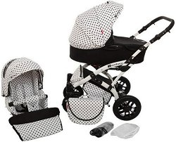 Бебешка количка 2 в 1 - Tambero - С 4 колела -