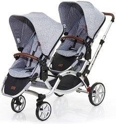 Комбинирана бебешка количка за близнаци - Zoom Style 2017 - С 4 колела - количка