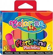Пластилин в неонов цвят - Комплект от 6 цвята