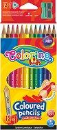 Тристенни цветни моливи с острилка - Комплект от 12 цвята