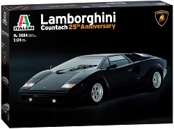 Автомобил - Lamborghini Countach 25th Anniversary - Сглобяем модел - макет