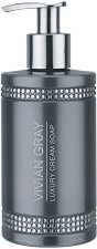 "Vivian Gray Grey Crystals Luxury Cream Soap - Течен сапун в диспенсър от серията ""Crystals"" - сапун"