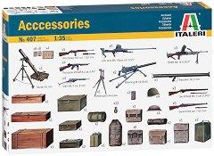 Военни аксесоари от Втората световна война - Комплект от сглобяеми фигури -