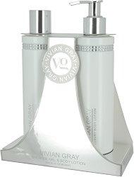"""Vivian Gray White Crystals Shower Gel & Body Lotion - Подаръчен комплект с душ гел и лосион за тяло от серията """"Crystals"""" - продукт"""