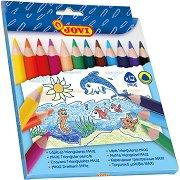 Тристенни цветни моливи - Maxi - Комплект от 12 цвята