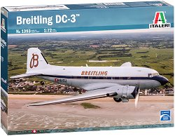 Пътнически самолет -  Breitling DC-3 - Сглобяем авиомодел - макет