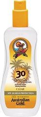 Australian Gold Spray Gel Sunscreen - SPF 30 - Слънцезащитен спрей-гел за тяло - лосион