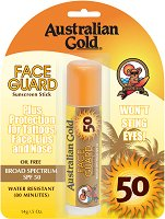 Australian Gold Face Guard Sunscreen Stick - SPF 50 - Слънцезащитен стик за лице, нос, устни и татуировки -