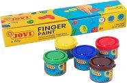 Бои за рисуване с пръсти - Комплект от 5 цвята x 35 ml - продукт