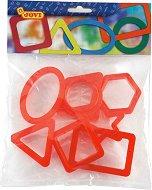 Формички за пластилин - Геометрични фигури - Комплект от 8 броя