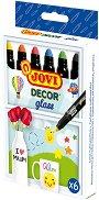 Маркери за стъкло - Decor glass - Комплект от 6 цвята