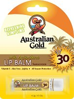Australian Gold Lip Balm Sunscreen - SPF 30 - Слънцезащитен балсам за устни - лосион