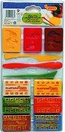 Пластилин с инструменти - Комплект от 12 части