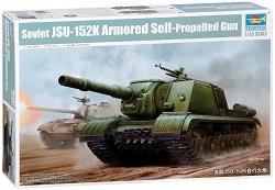 Руски танк - ИСУ-152К - Сглобяем модел -