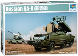 Самоходен зенитно - ракетен комплекс - SA-8 Gecko - Сглобяем модел - макет