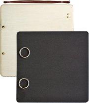 Албум за снимки - Черен - Размер 21.5 x 21.5 cm с 24 листа
