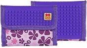 Портмоне със силиконови елементи - Pink & Purple - Комплект с аксесоар за декориране -