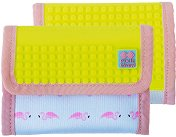 Портмоне със силиконови елементи - Flamingos - Комплект с аксесоар за декориране -