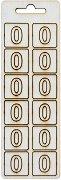 Формички от шперплат - Цифра 0 - Комплект от 12 броя с размер 2 cm