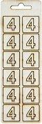 Формички от шперплат - Цифра 4 - Комплект от 12 броя с размер 2 cm