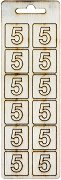 Формички от шперплат - Цифра 5