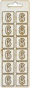 Формички от шперплат - Цифра 6