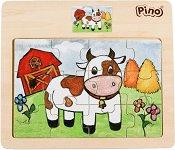 Кравичка - Детски дървен пъзел - пъзел