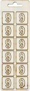 Формички от шперплат - Цифра 9 - Комплект от 12 броя с размер 2 cm