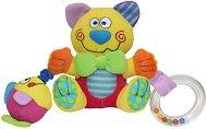 Плюшена дрънкалка - Котенце - Писукаща играчка с вибрация -
