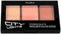"""Aura City Lights Strobing Palette - Палитра хайлайтъри със стробинг ефект от серията """"City Lights"""" - парфюм"""