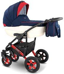 Бебешка количка 2 в 1 - Carera 2017 - С 4 колела -