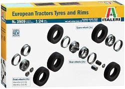 Гуми и джанти за европейски камион - Комплект от 9 броя -