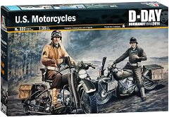 Американски военни мотори - Harley Davidson - Комплект сглобяем модел и фигури - макет