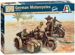 Германски военни мотори - BMW R75 - Сглобяем комплект от 30 фигури на войници и мотори - макет