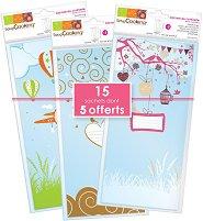 Торбички за сладки и декорации - Природа - Комплект от 15 броя