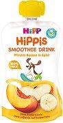 HIPP HiPPiS - Био смути напитка с праскова, банан и ябълка - Опаковка от 120 ml за бебета над 12 месеца - пюре