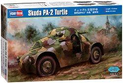 Военен автомобил - Skoda PA - 2 Turtle - Сглобяем модел -