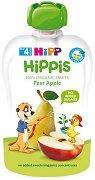 HIPP HiPPiS - Био забавна плодова закуска ябълка и круша - Опаковка от 100 g за бебета над 4 месеца -