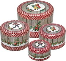 Метални кутии за сладки - Winter Poetry - Комплект от 4 броя