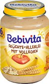 Bebivita - Каша плодове с пълнозърнести култури - Бурканче от 190 g за бебета над 6 месеца -