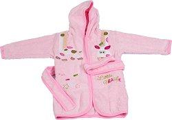 Детски халат за баня - Giraffe - 100% памук за деца от 2 до 3 години - продукт