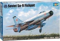 Руски изтребител - СУ-9 Fishpot - Сглобяем авиомодел -