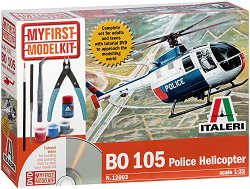 Полицейски хеликоптер - BO 105 - Сглобяем модел - комплект за начинаещи - макет