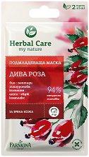 """Farmona Herbal Care Wild Rose Rejuvenating Mask - Подмладяваща маска за лице 2 x 5 ml от серията """"Herbal Care"""" - крем"""