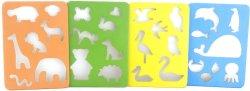 Шаблони за рисуване - Животни - Комплект от 4 броя